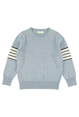 Simple Kids SS21 Teckel knit sweater ciel