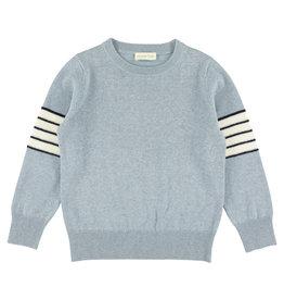 Simple Kids Simple Kids SS21 Teckel knit sweater ciel