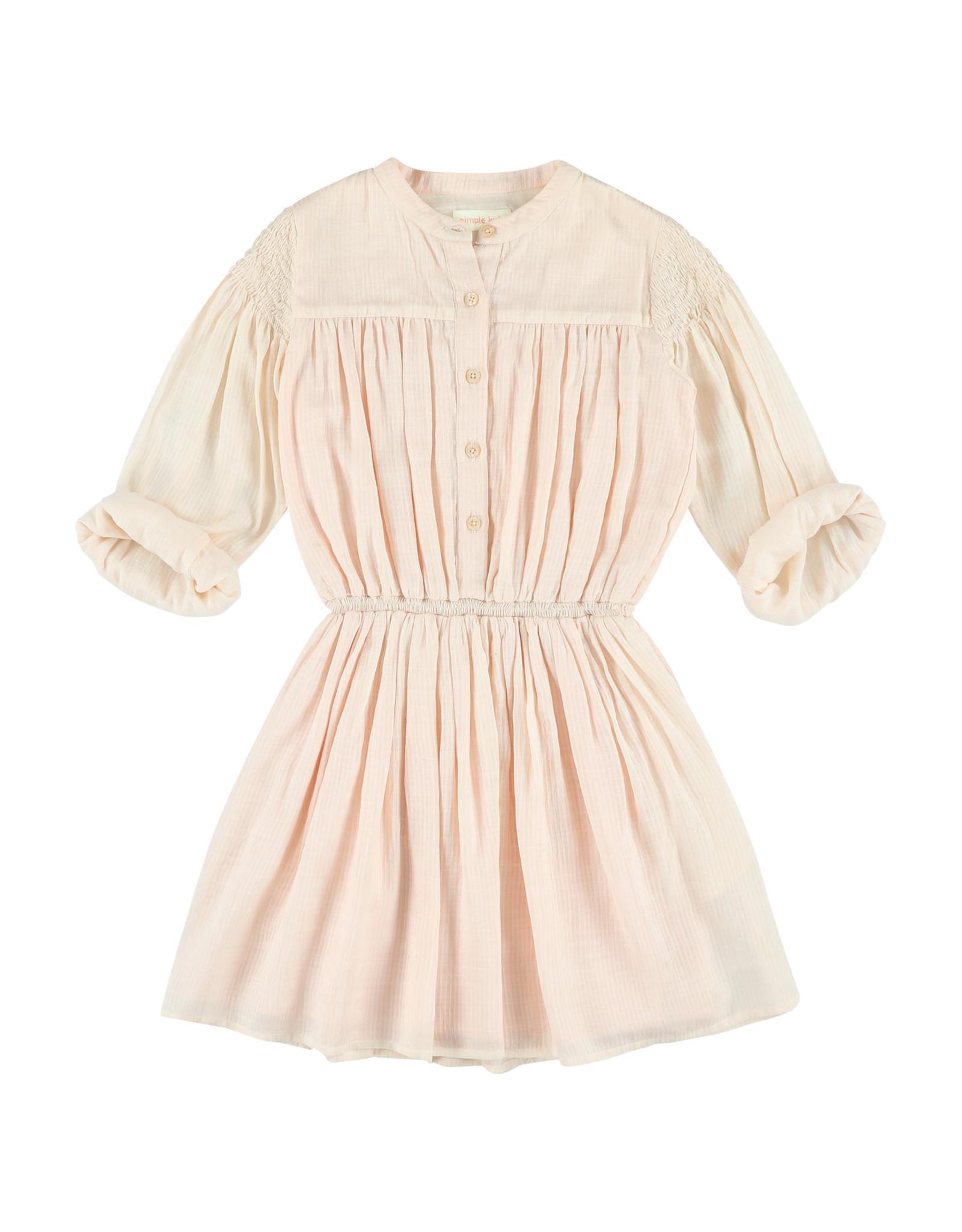 Simple Kids SS21 Ant Modrib rose dress