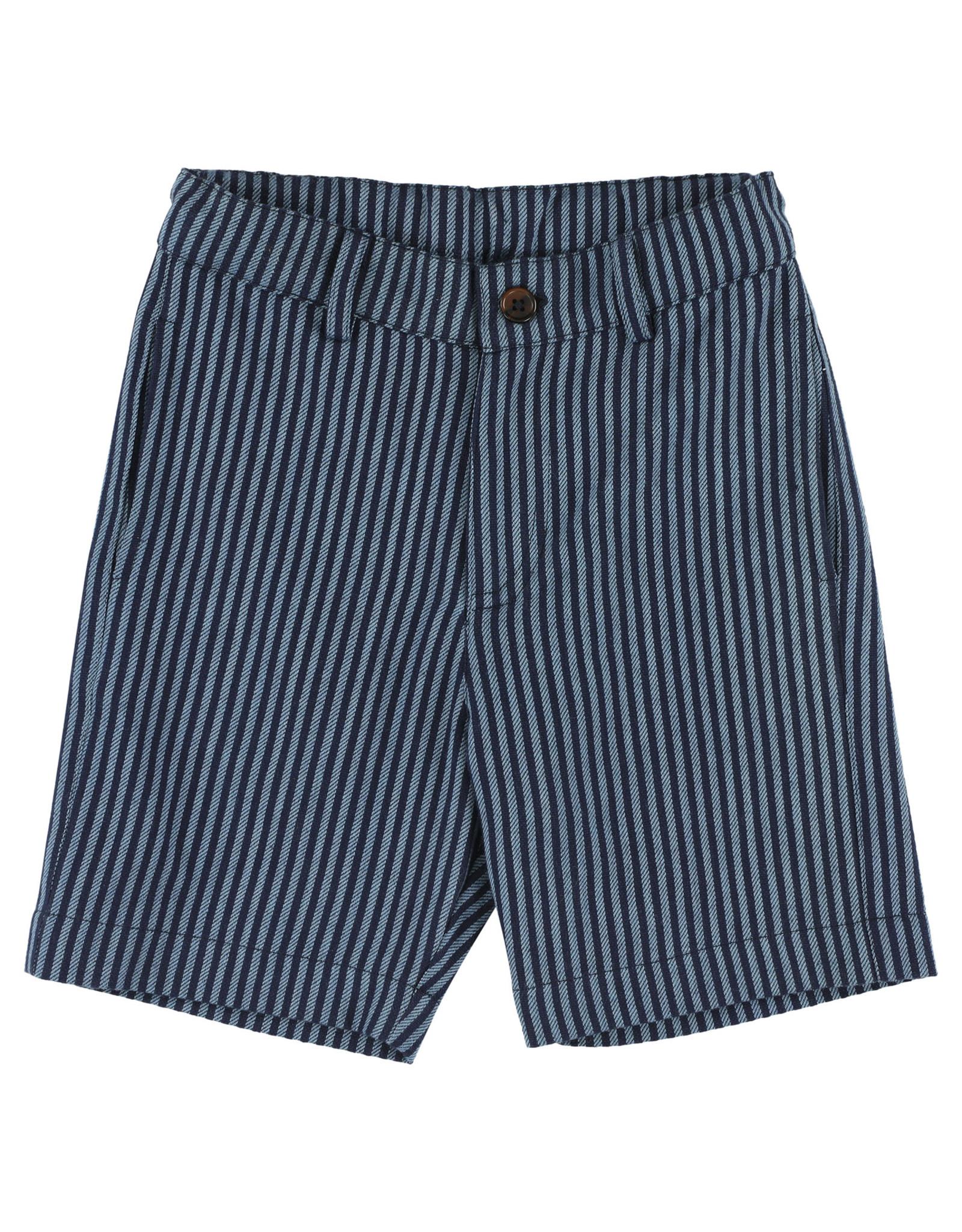 Simple Kids SS21 Jaguar lines blue shorts