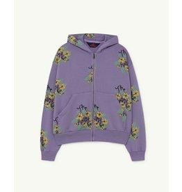 The Animal Observatory TAO SS21139 Seahorse sweatshirt purple flowers