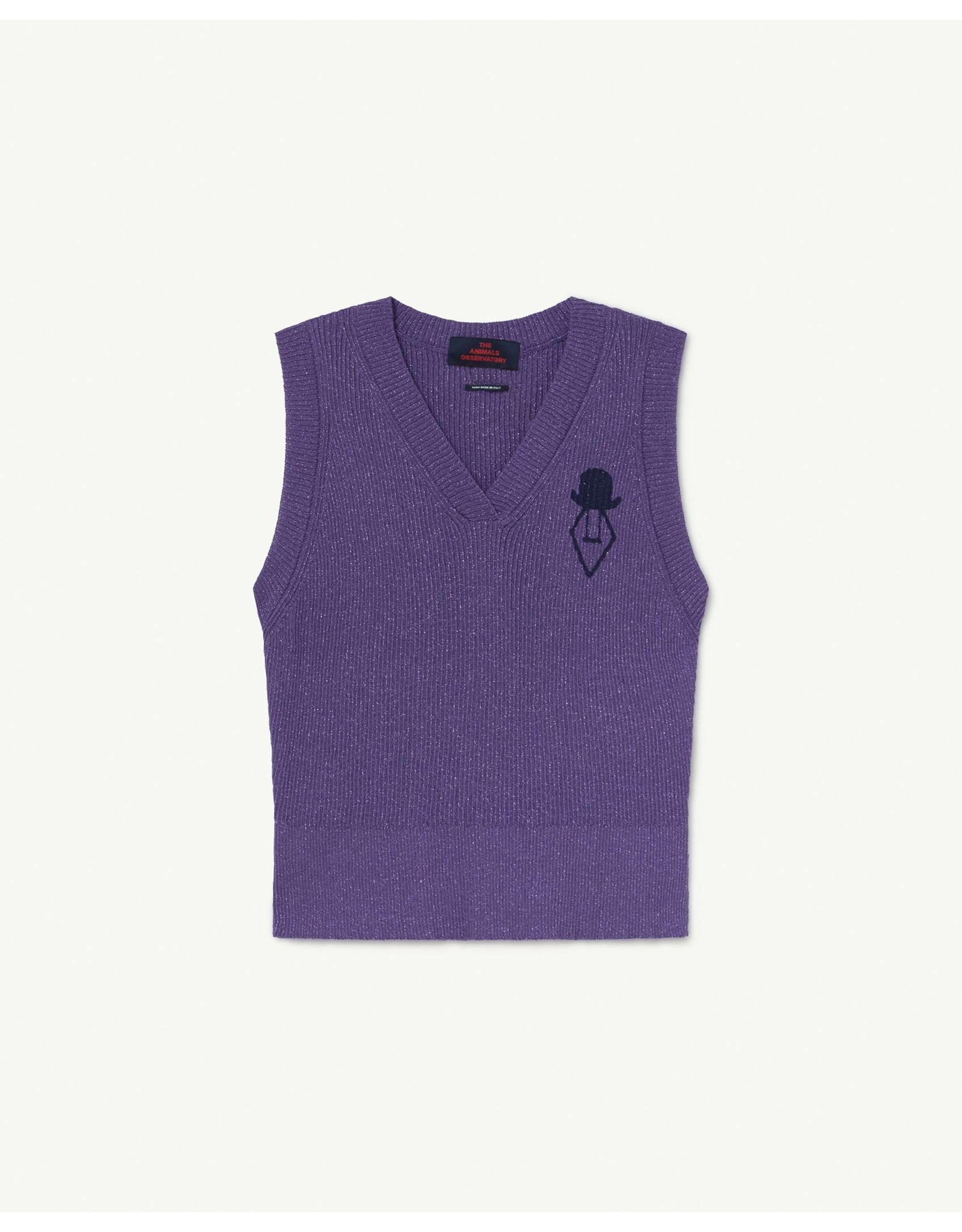 The Animal Observatory TAO SS21089 Bat vest purple logo