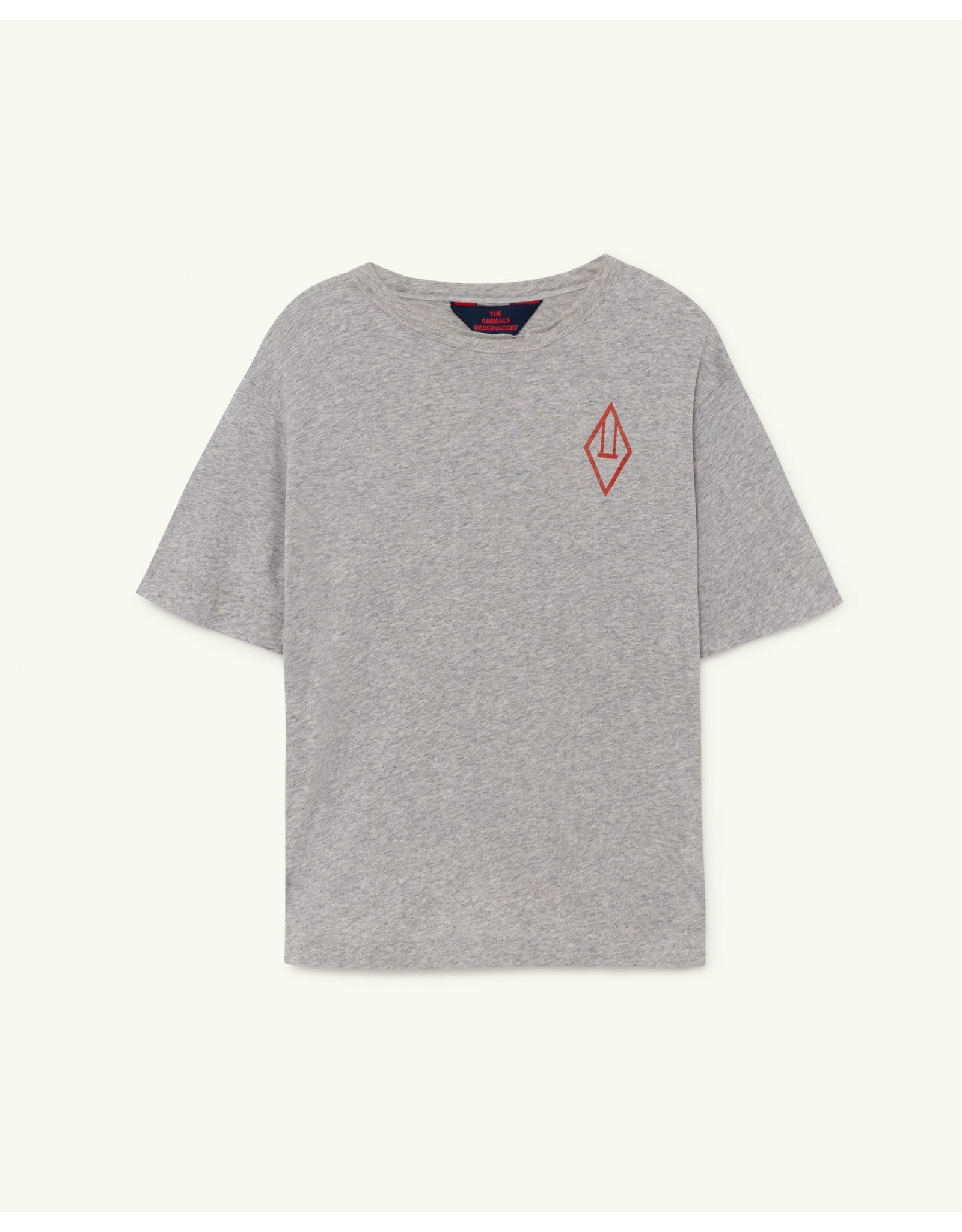 The Animals Observatory TAO SS21044 Rooster oversize t-shirt grey logo