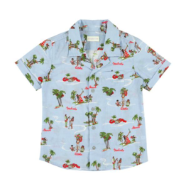 Simple Kids SS21 Rabbit aloha ciel shirt
