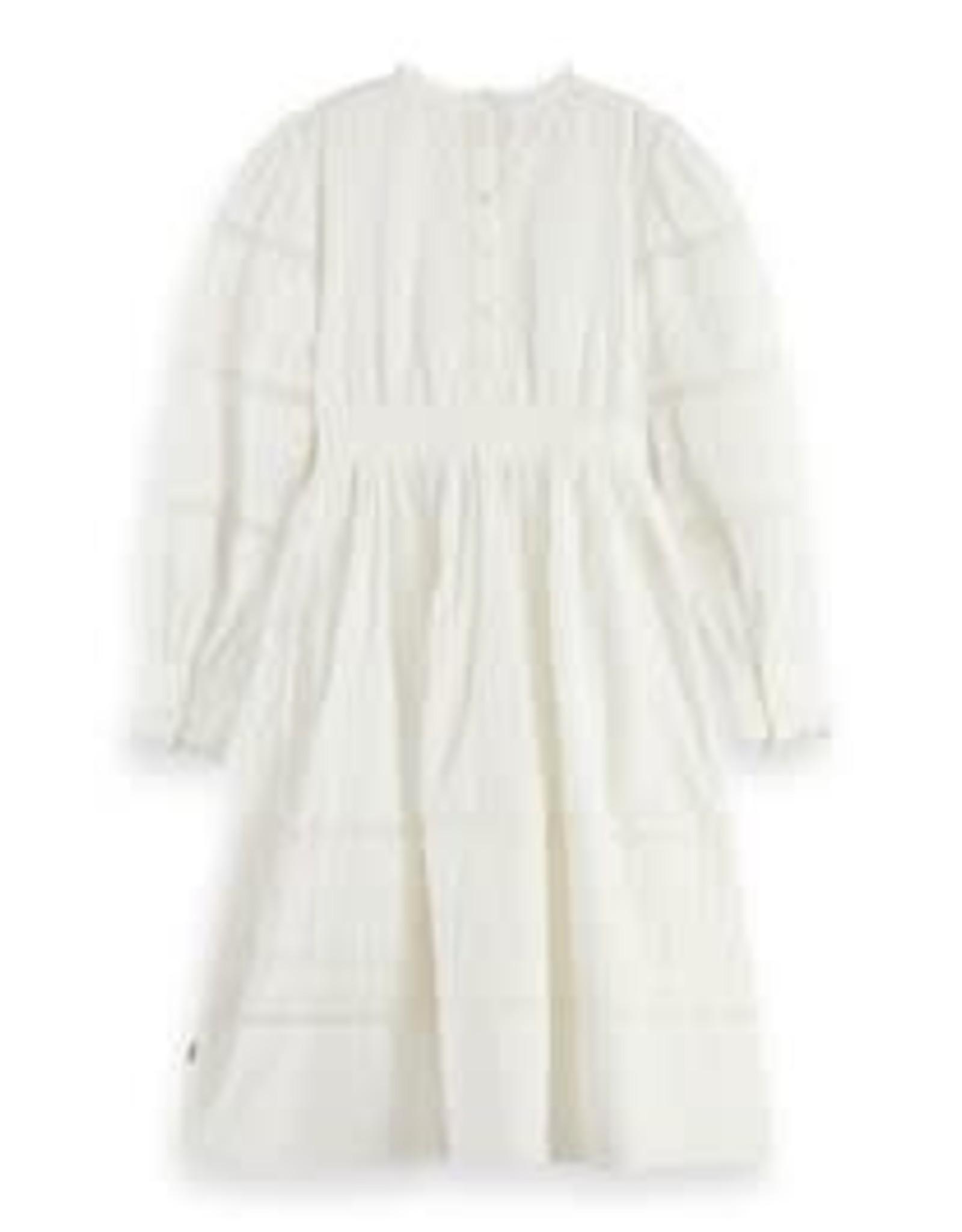 Scotch&Soda R'belle SS21 161351 long sleeve maxi dress white