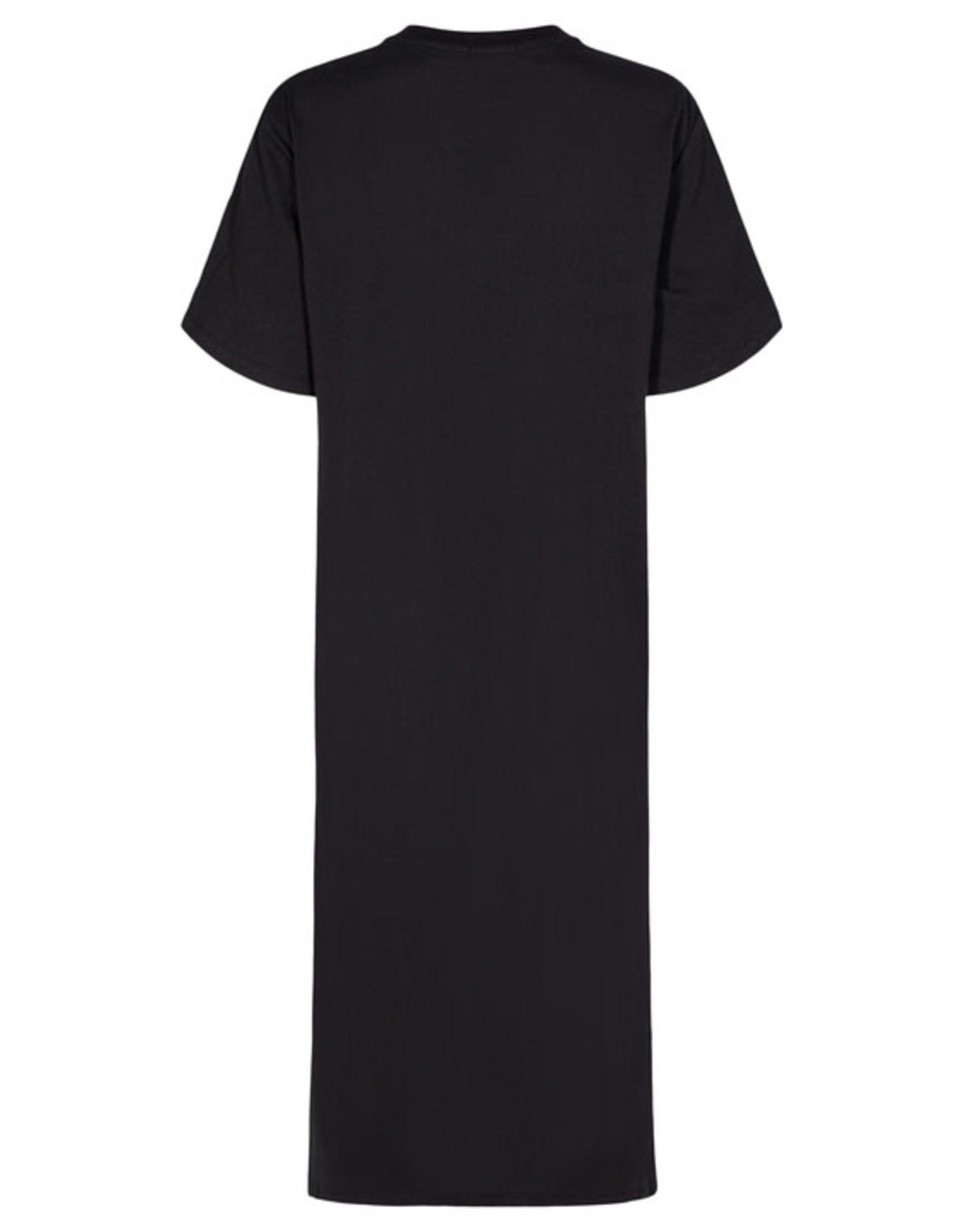 DRG SS21 17040 Stanley slit dress black