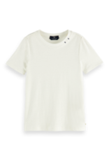 Scotch&Soda R'belle SS21 160218 Tee with embroidery