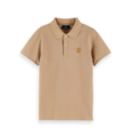 Scotch&Soda Shrunk SS21 160119 Polo with chest artwork sand