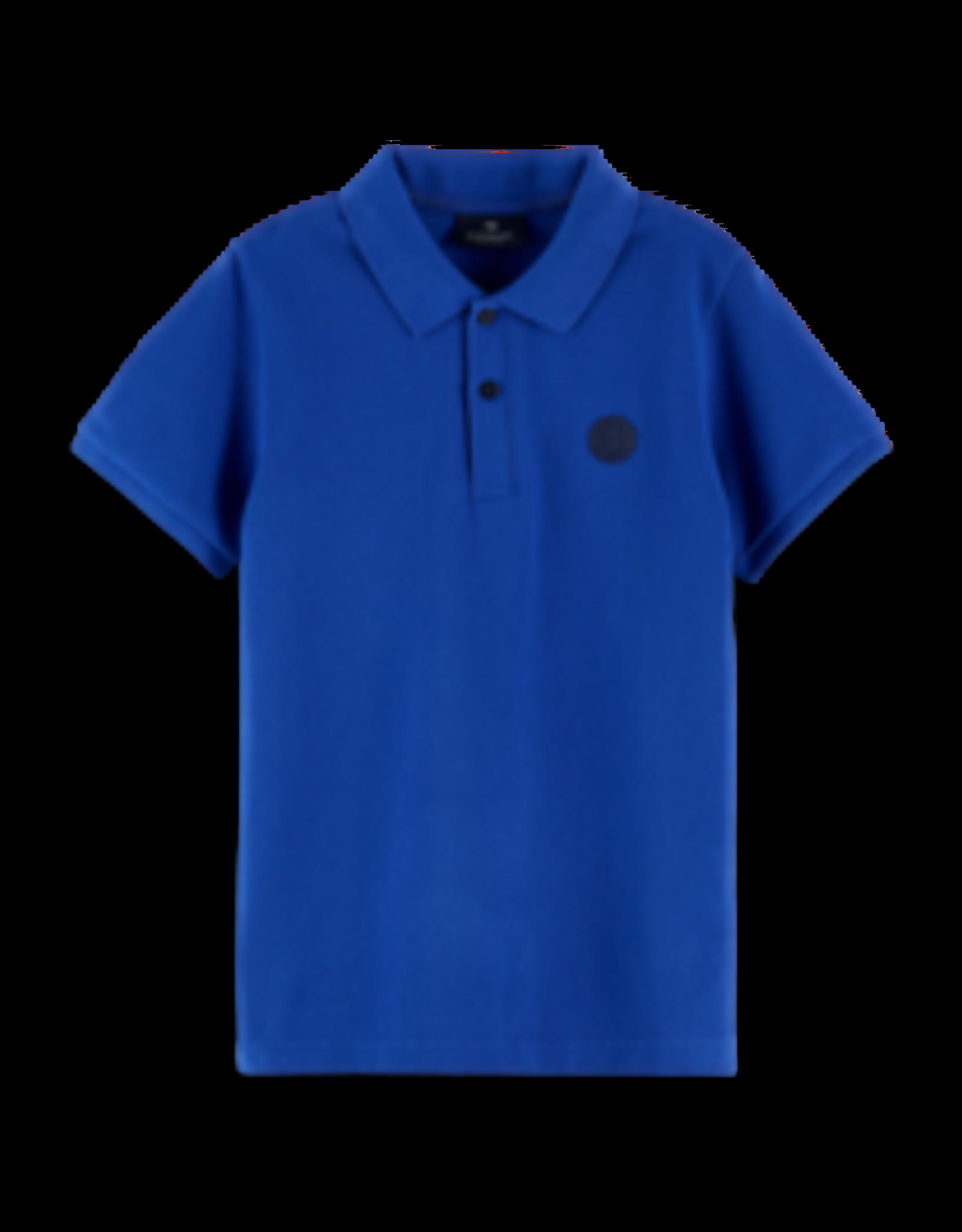 Scotch&Soda Shrunk SS21 160119 Polo with chest artwork blue