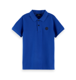 Scotch&Soda Shrunk SS21 160119 Polo with chest artwork blue