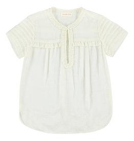 Simple Kids Simple Kids SS21 Cat modrib white shirt