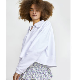 Les Coyotes de Paris LCDP SS21 Lanu white cropped shirt