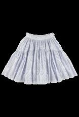 CRLNBSMNS SS21 midi skirt blue