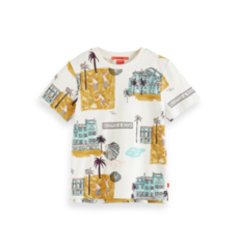 Scotch&Soda R'belle SS21 161108 allover printed short sleeve t-shirt combo