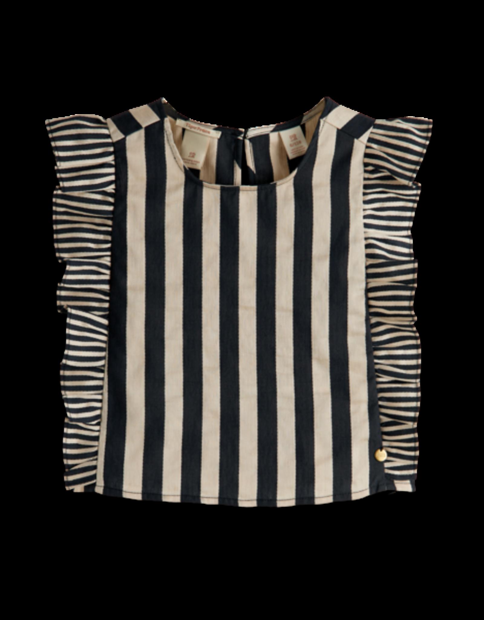Scotch&Soda R'belle SS21 161337 striped linen top