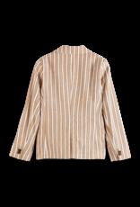 Scotch&Soda Copy of Shrunk SS21 161009 short linen stripe