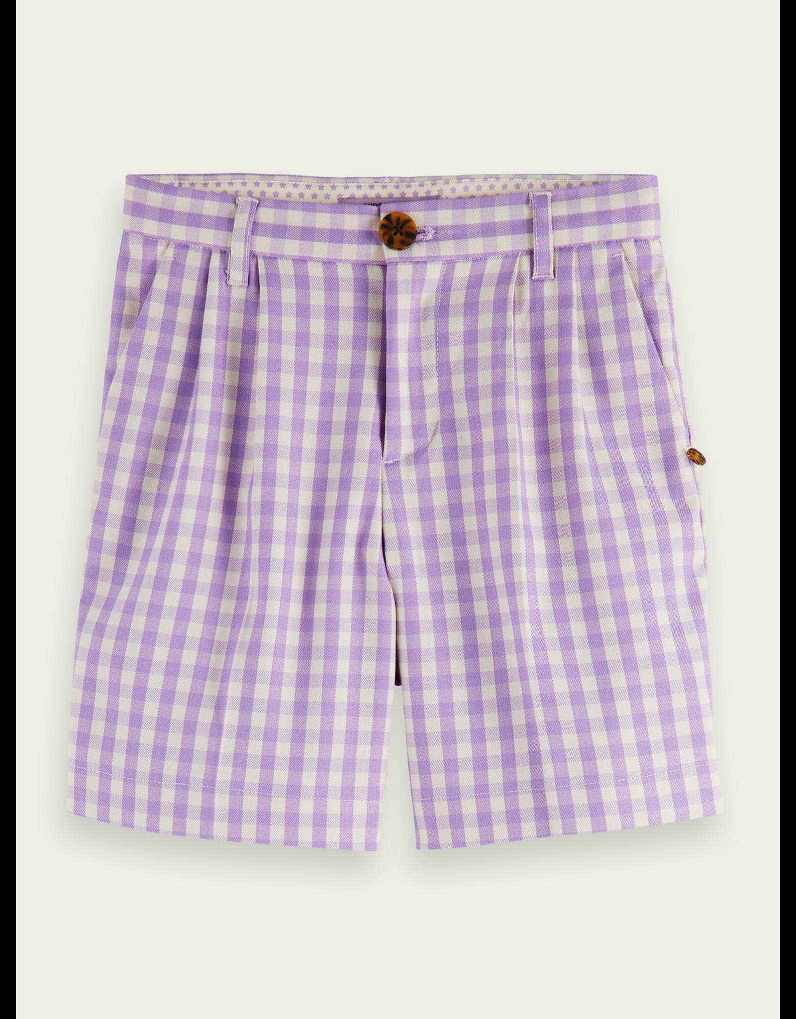 Scotch&Soda R'belle SS21 161251 checked shorts lavender