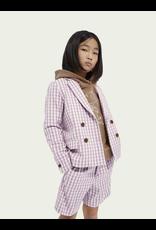 Scotch&Soda R'belle SS21 161222 checked blazer lavender