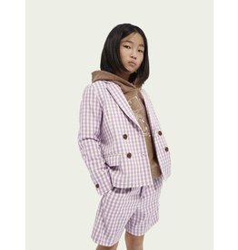 Scotch&Soda R'belle SS21 161222 checked blazer lavender