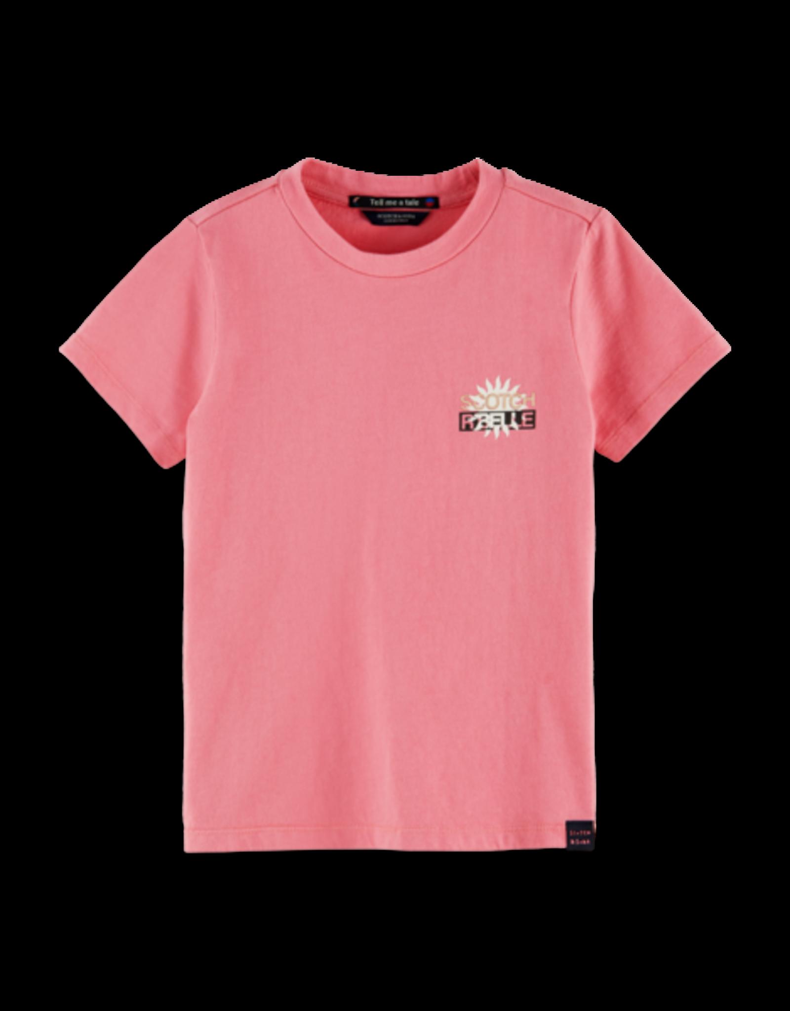 Scotch&Soda R'belle SS21 160215 SS tee pink