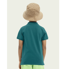 Scotch&Soda Shrunk chest artwork polo evergreen