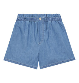 Hundred Pieces Hundred Pieces Chambray stonewashed denim shorts