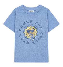 Hundred Pieces Chill organic cotton t-shirt blue Hundred Pieces