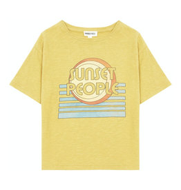 Hundred Pieces Sunset People Organic cotton t-shirt curry