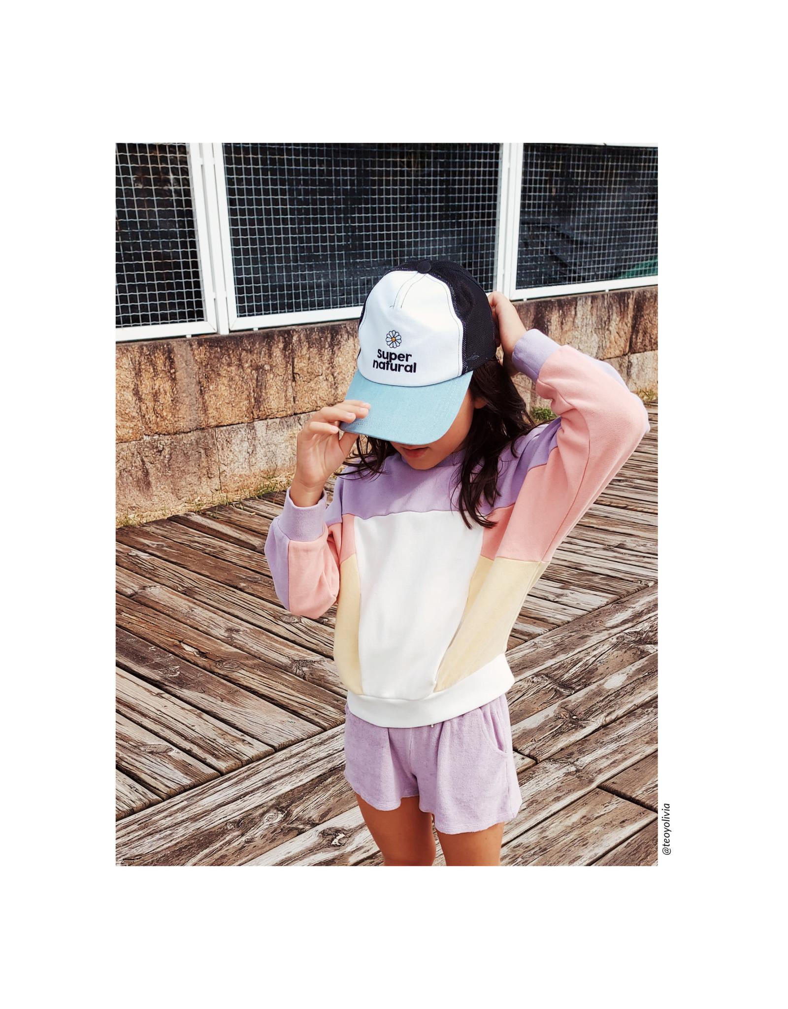 HPCS SS21 Sweatshirt Color Block Coton Bio candy pink