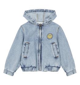 Hundred Pieces Embroidered denim jacket stonewashed