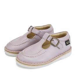 Young Soles Parker velcro t-bar lilac leather