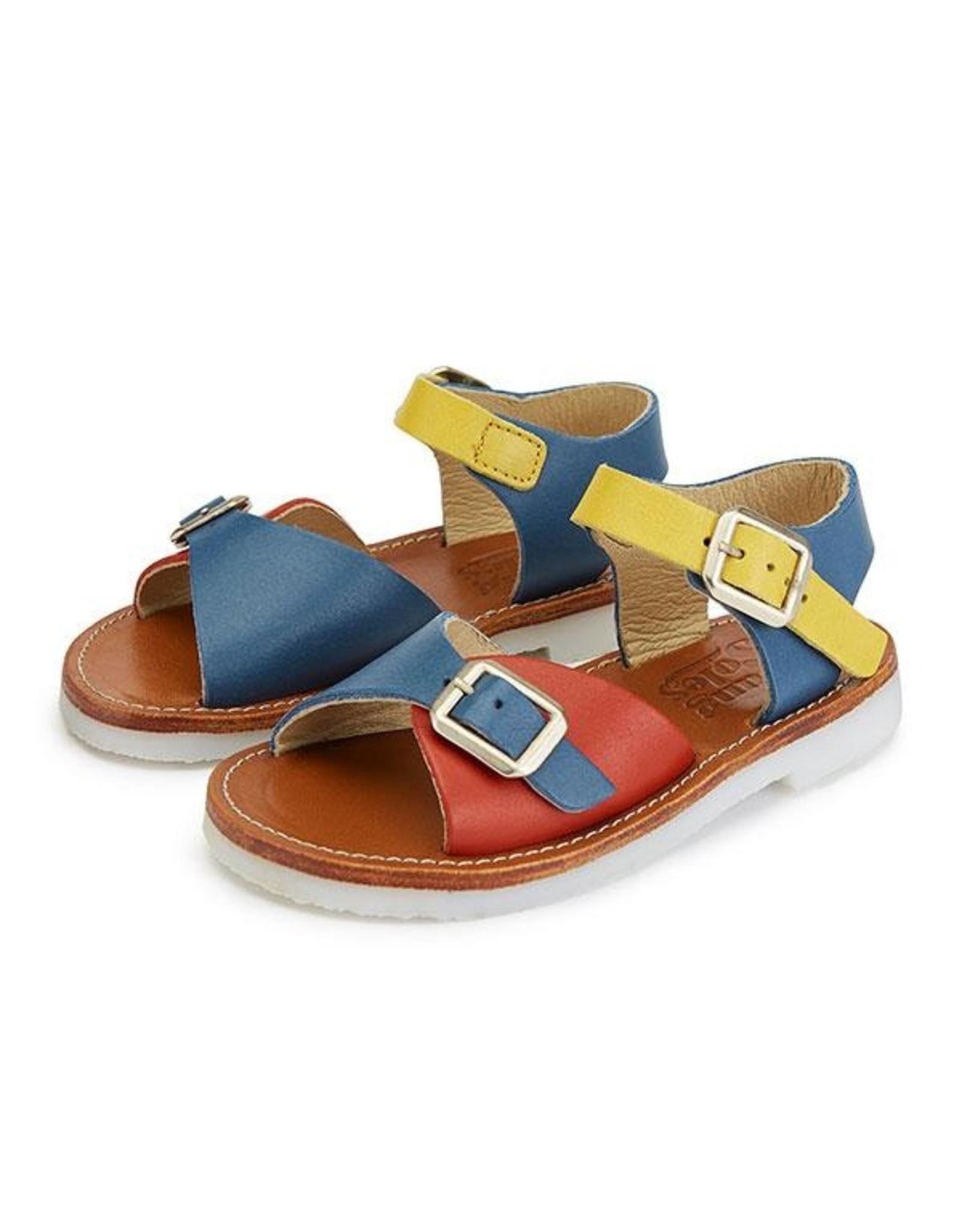 Young Soles Sonny sandal retro multi block