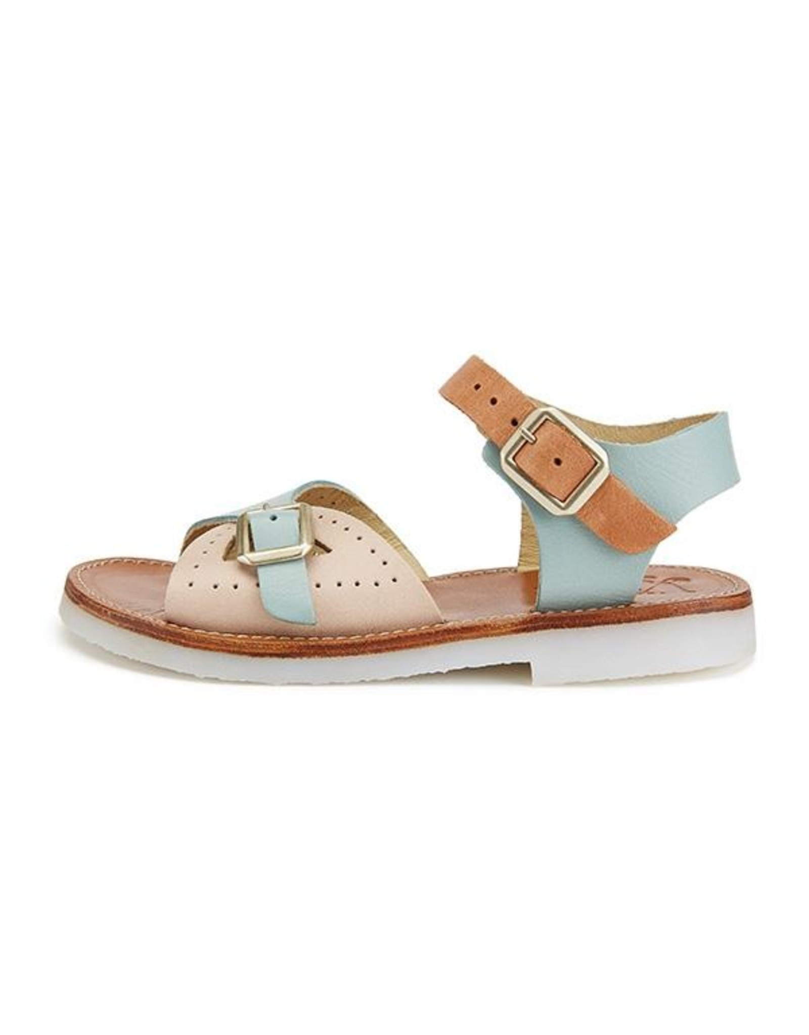 Young Soles Pearl sandal pale multi block