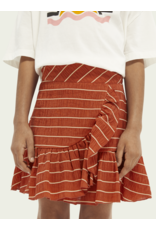 Scotch&Soda Scotch & Soda 161381 wrap over ruffle skirt