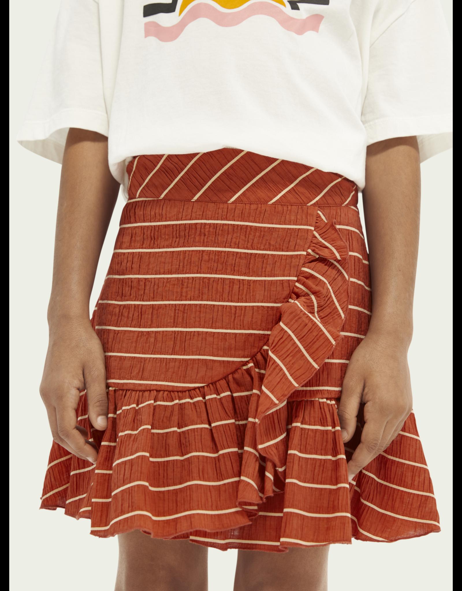 Scotch&Soda Scotch&Soda PF21 161381 wrap over ruffle skirt
