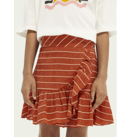 Scotch&Soda Scotch & Soda wrap over ruffle skirt