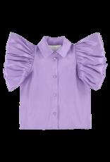 Caroline Bosmans Caroline Bosmans FW21 308 70 Puff sleeve tafta purple