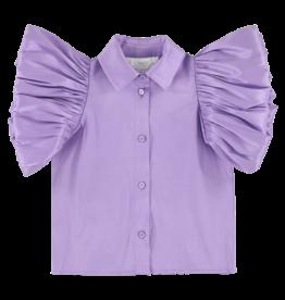 Caroline Bosmans Caroline Bosmans Puff sleeve tafta purple