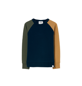 Finger in the Nose Finger in the Nose Hank navy colourblock sweater