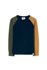 Finger in the Nose Finger in the Nose FW21 Hank navy colourblock sweater