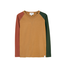 Finger in the Nose Finger in the Nose Neal Tobacco colourblock shirt