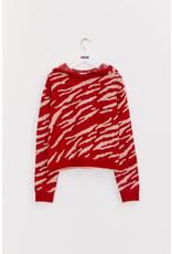 INDEE FW21 Koala knit sweater ruby red
