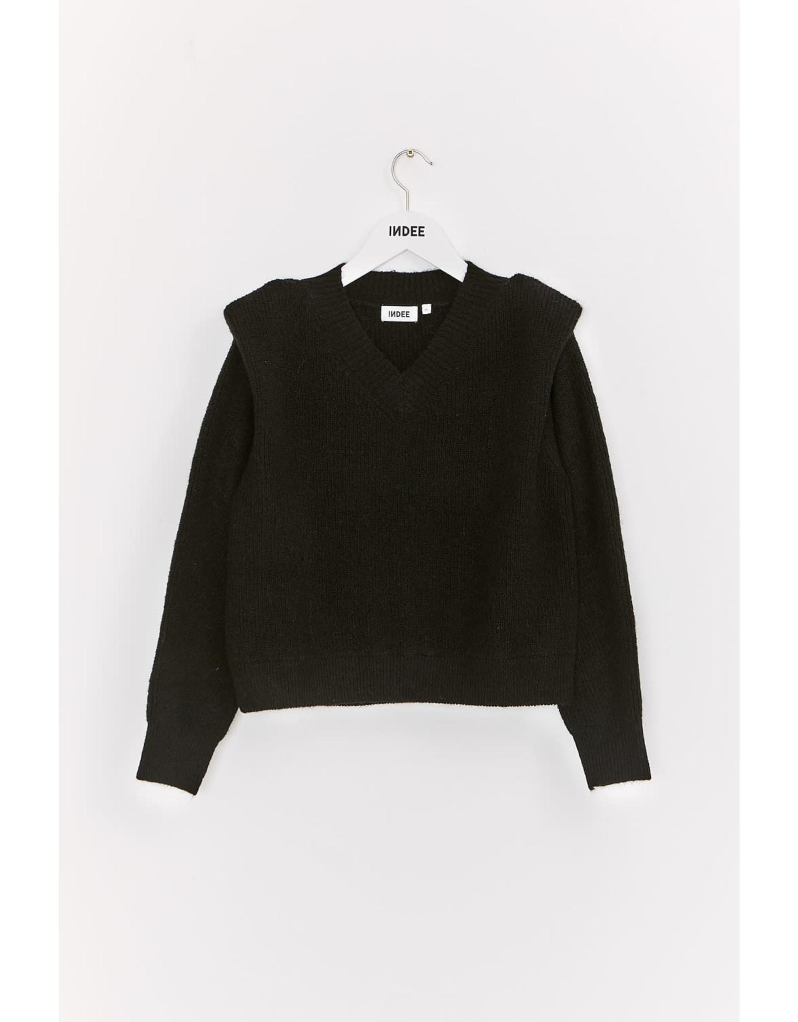 INDEE FW21 Karaoke knit sweater black