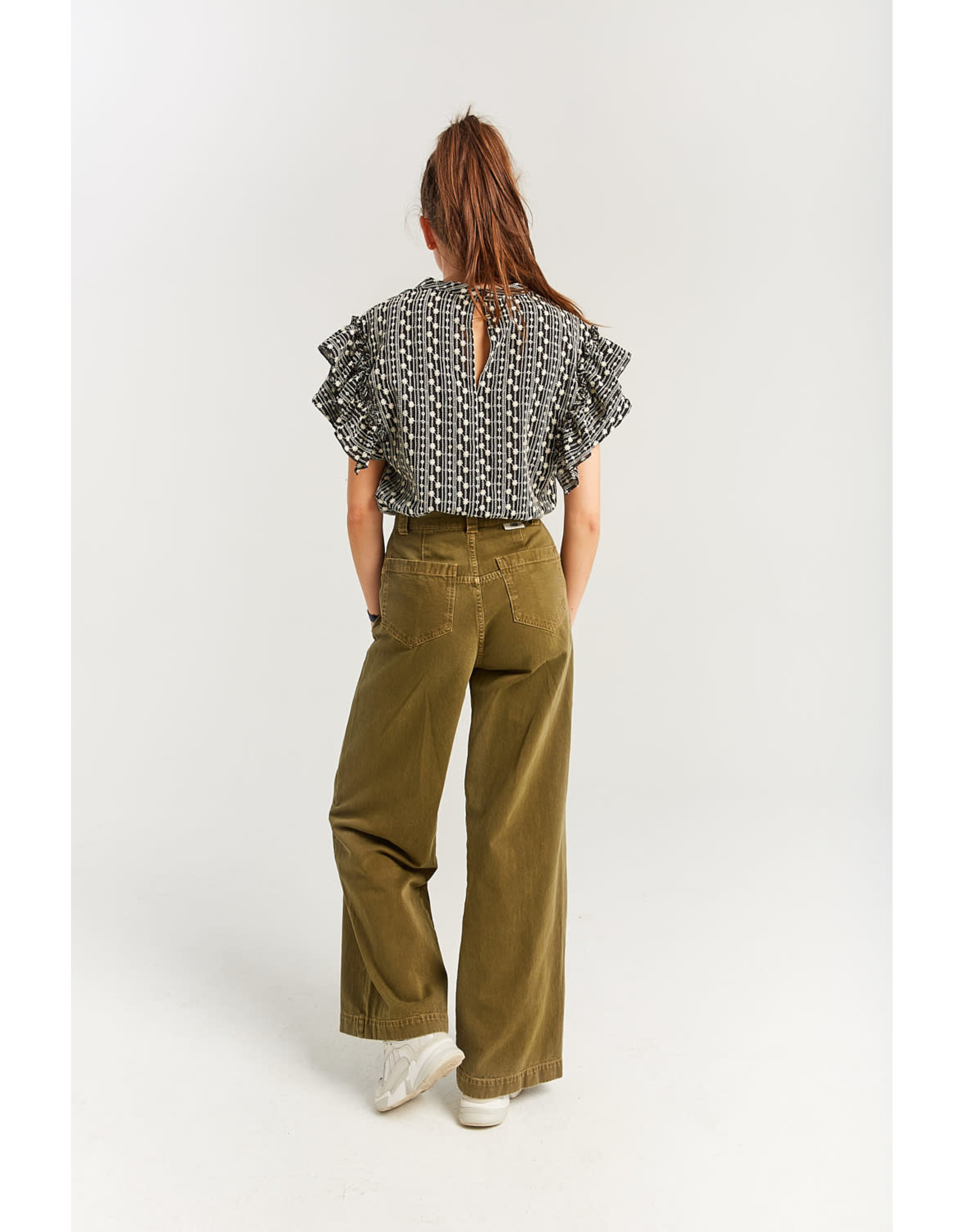 INDEE FW21 Kyoto trousers army green