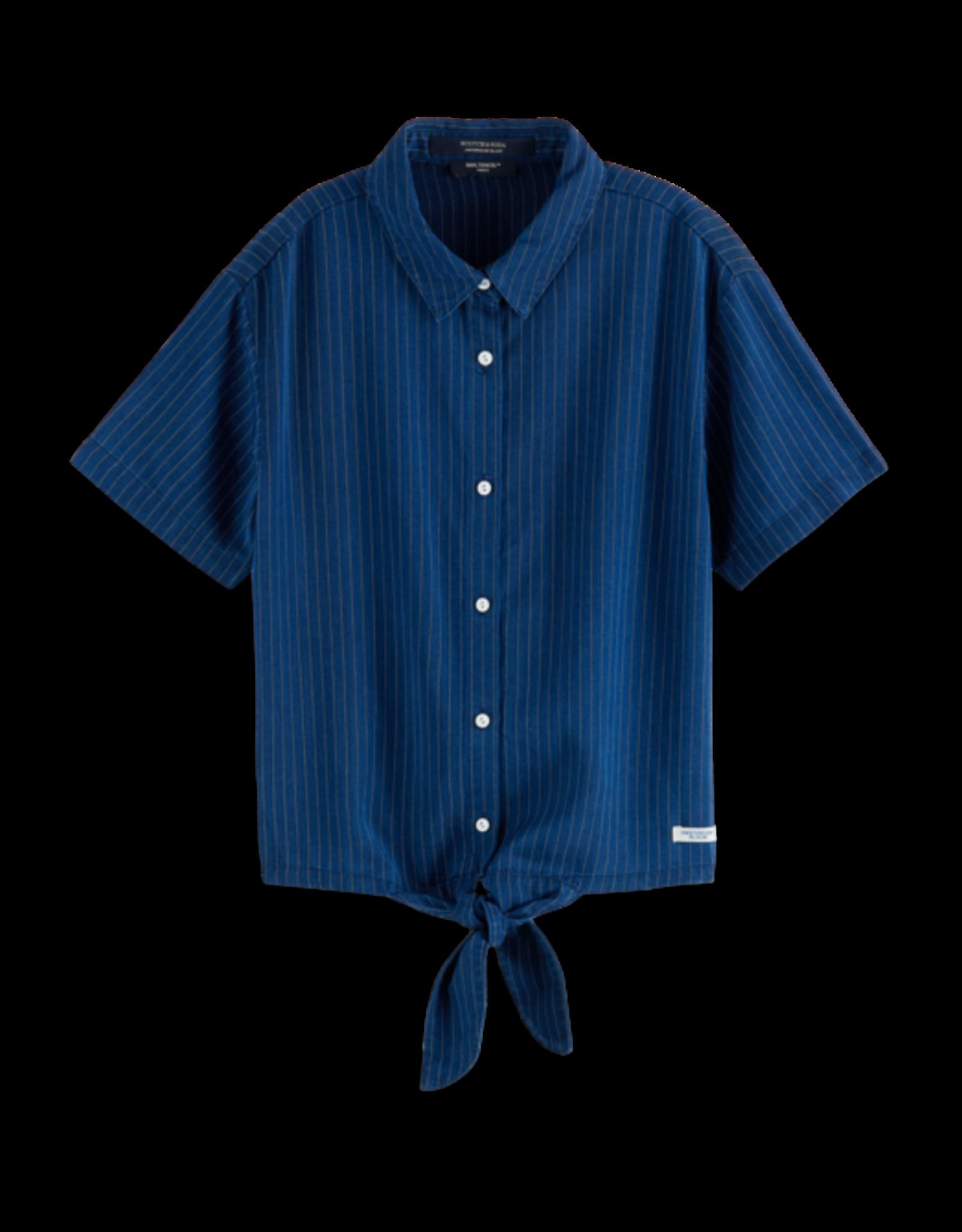 Scotch&Soda Scotch&Soda PF21 162645 Ams blauw shirt