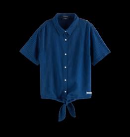 Scotch&Soda Scotch&Soda Ams blauw shirt