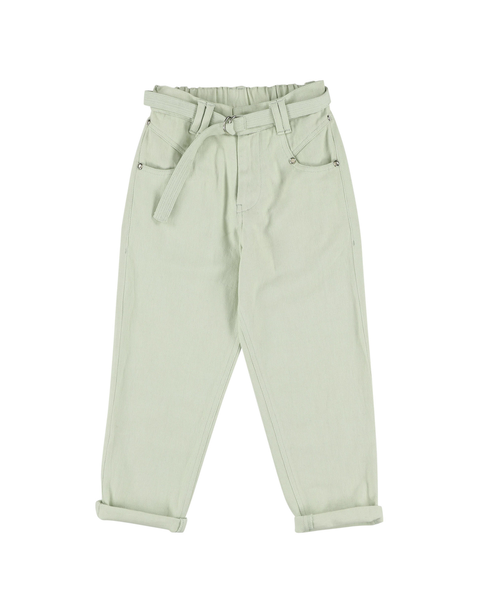 Simple Kids Basile Drill mint trousers