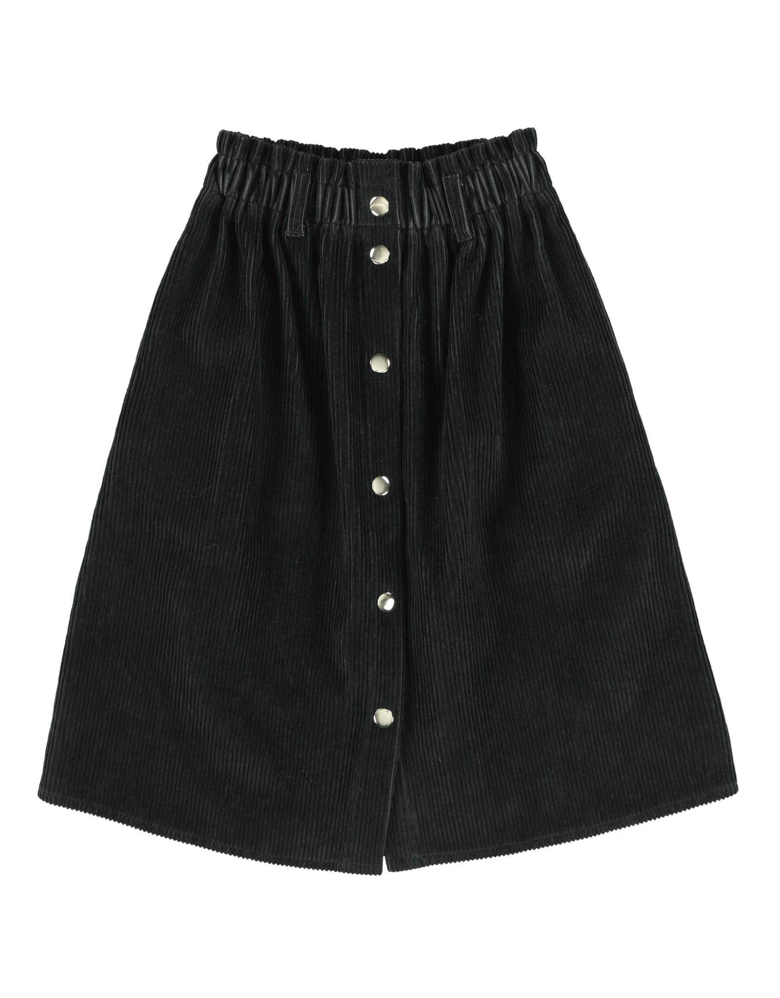 Simple Kids Frisee Wales coal skirt