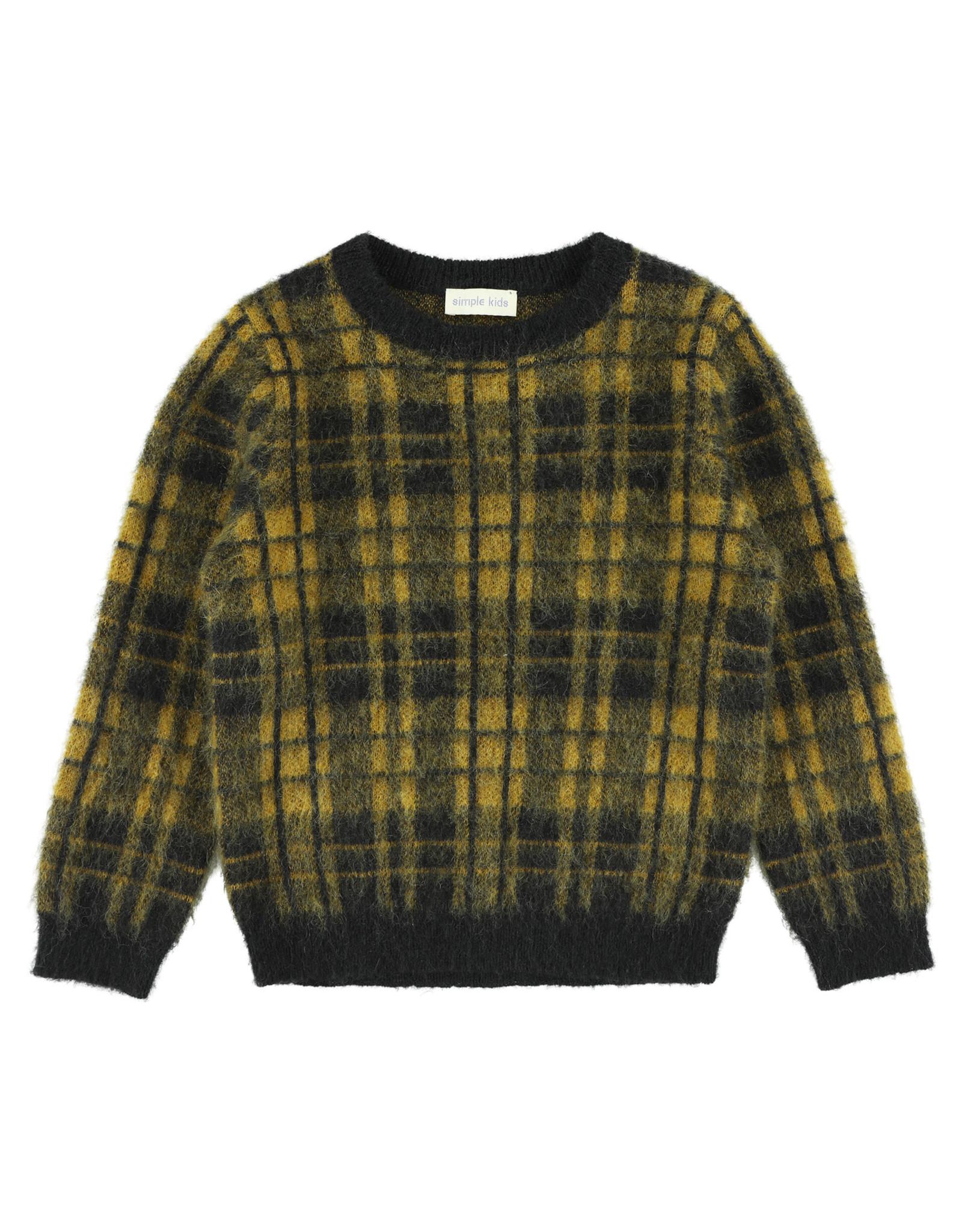 Simple Kids Allspice Soft mustard pullover
