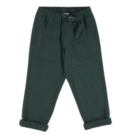 Simple Kids Root Drill sage trousers